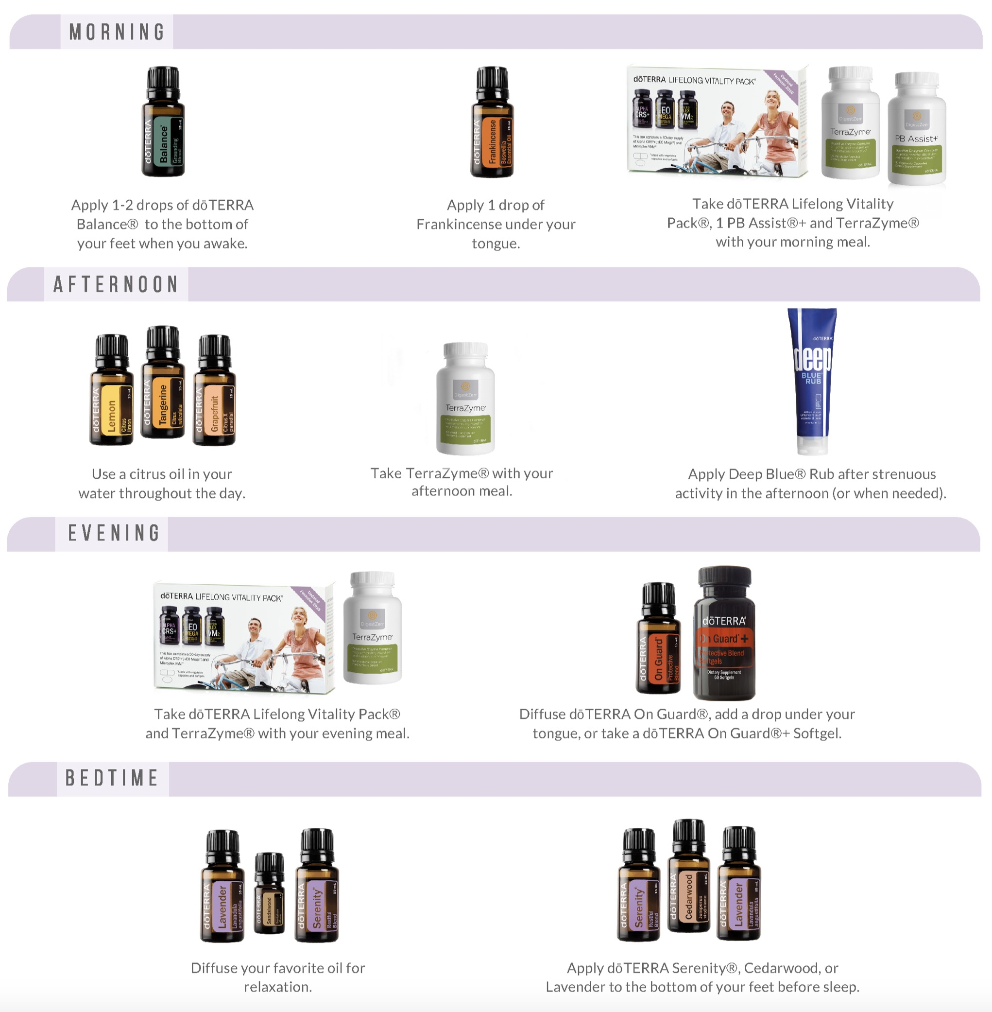 doterra daily health habits