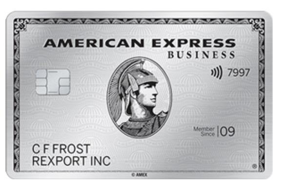 American Express metal travel card