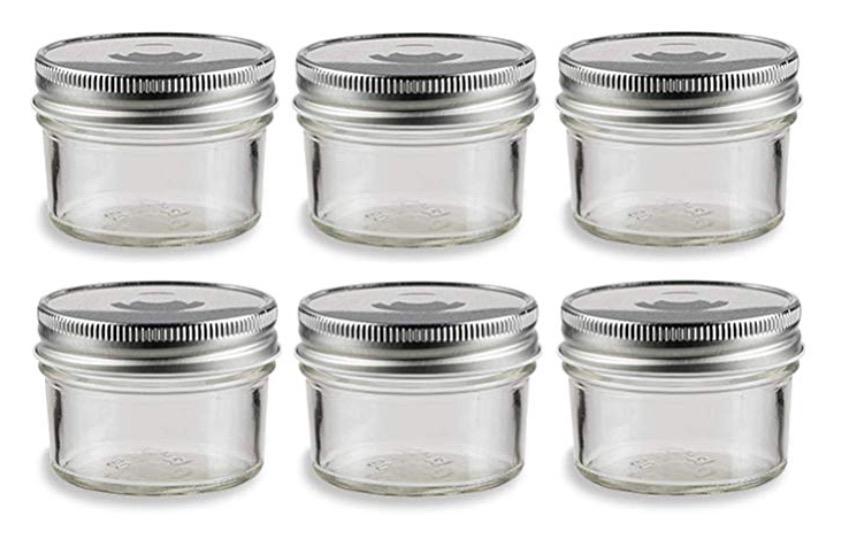 4oz Wide mouth glass jars