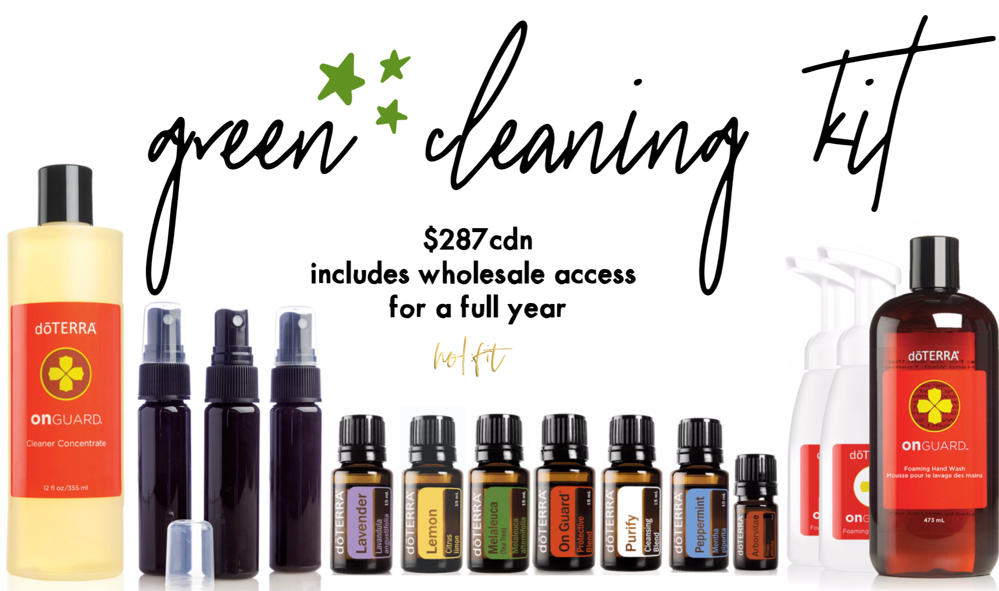 HOL:FIT green cleaning kit doterra