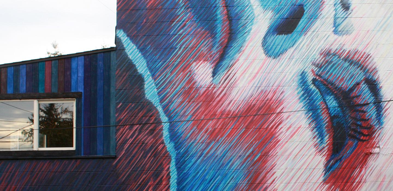 Messier - Medium: MuralAcrylic and SpraypaintSize: 33.33′ x 20.66′Year: 2015Location: Seattle, Washington