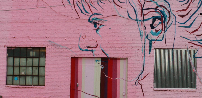 Minimalisme - Medium: Mural – Acrylic and SpraypaintSize: 150' x 20'Year: 2014Location: Atlanta, Georgia