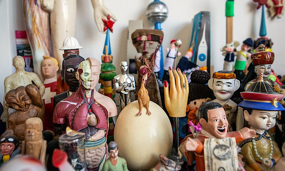 A small selection of figurines from the vast collection that overrun the home and studio Madelon Vriesendorp