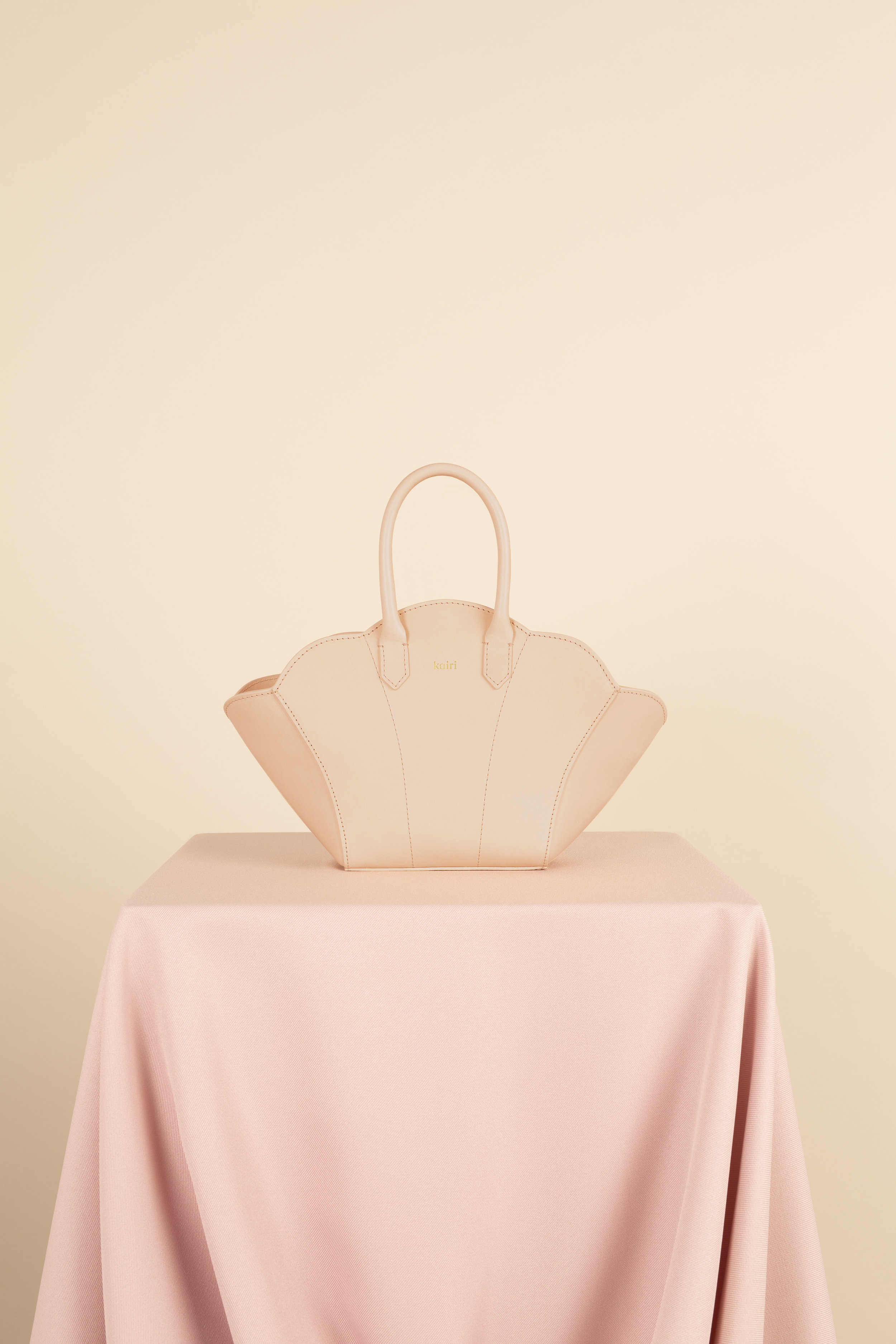 Kairi London Shell Bag (Beige) Front.jpg
