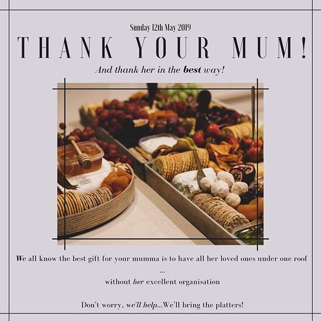 Mother's Day is fast approaching in just 1 week! Get the fam bam together to celebrate all that she is to you! Order your platters now! • • #grazingtable #graze #platter #newcastleplatter #newcastlegraze #mothersday #mothersdaygift #mum #welovemum #thankyoumum #newcastlecaterer #newcastlevendor #newcastlefood #grazingplatter #platterinspo