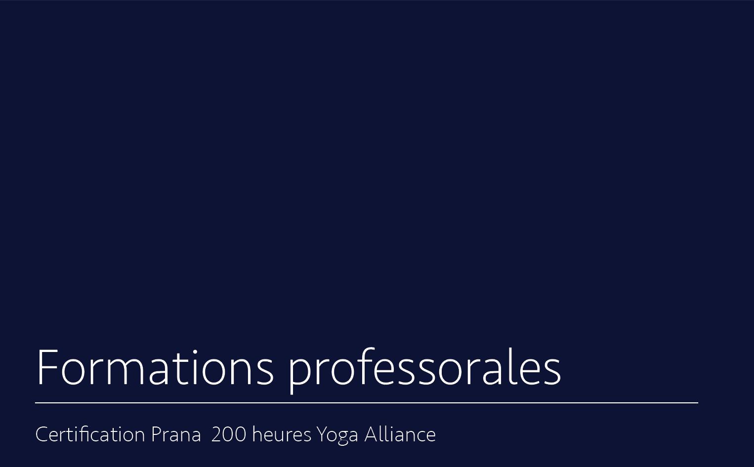 Certifications par cumul ou certification 200 heures - Pour explorer / pratiquer la voie de transmission de la pratique du yoga