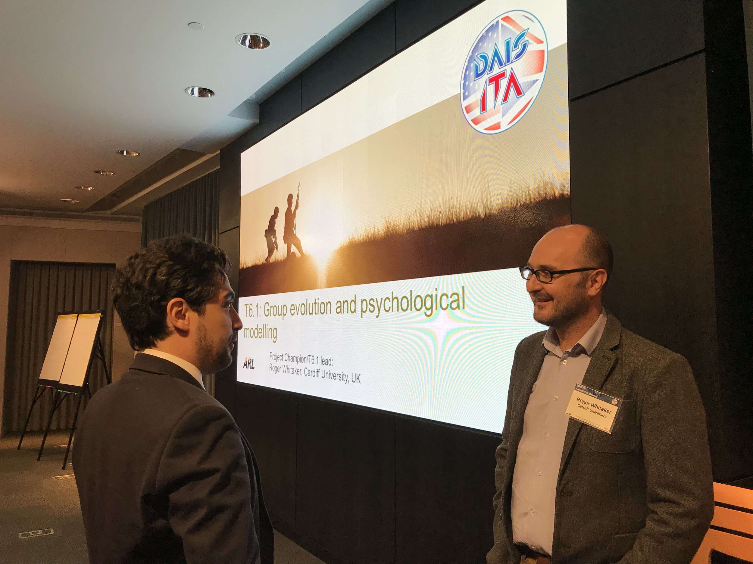 Federico Cerutti and Roger Whitaker at the presentation session