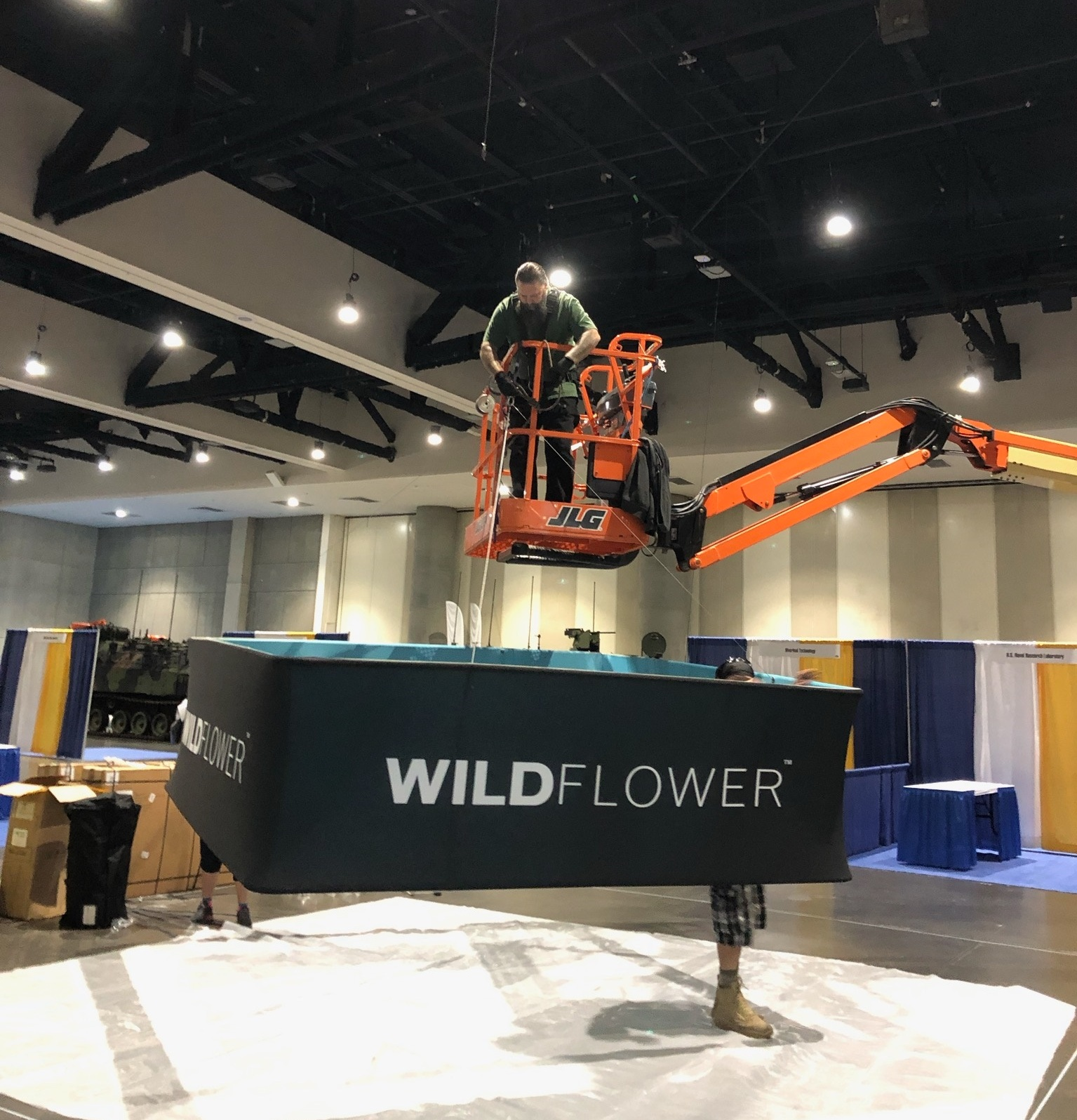 Rigging the canopy at AFCEA West, San Diego!