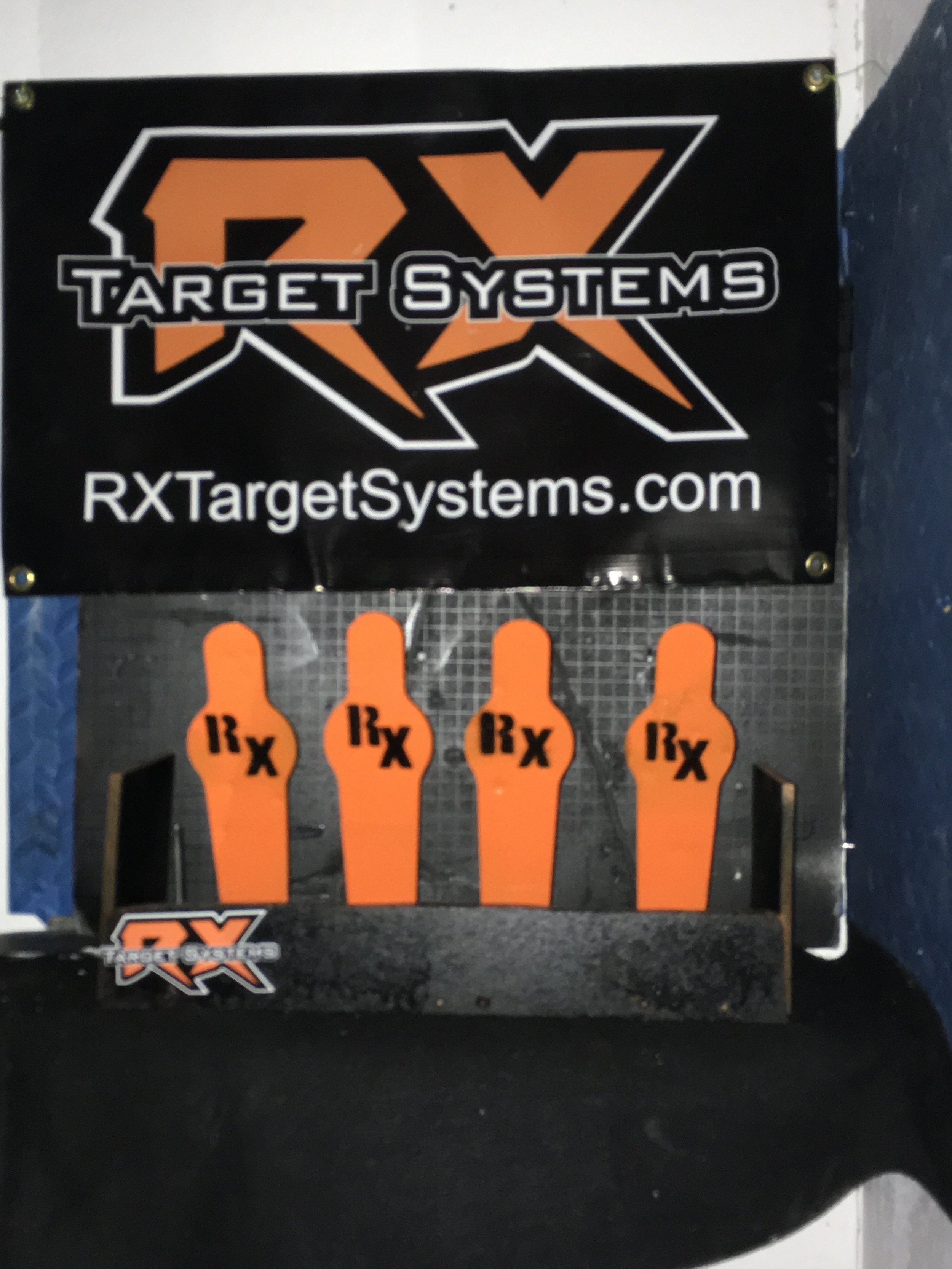 Rx Silhouette System, with MSDR (manual shooter distance reset) shown here with 4 targets, but also available with up to 5 targets.