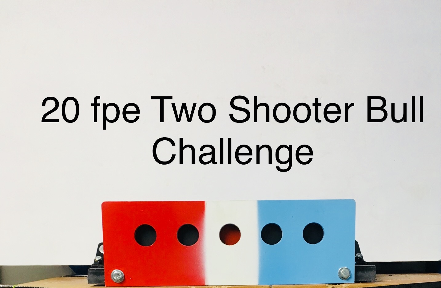 Rx Two Shooter Challenge, with center target as winning target.