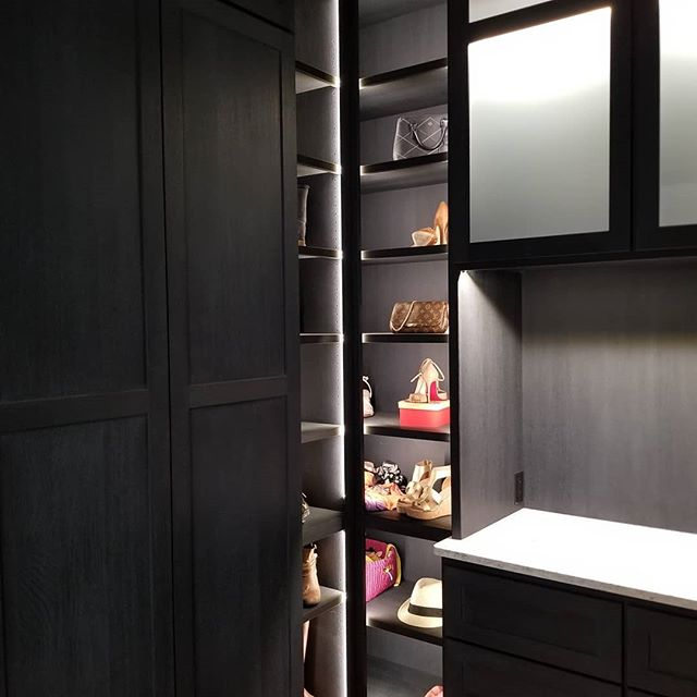 Here is a beautiful custom master closet I just completed for a client. I really enjoyed designing and building this cabinetry. #furniture #fargo