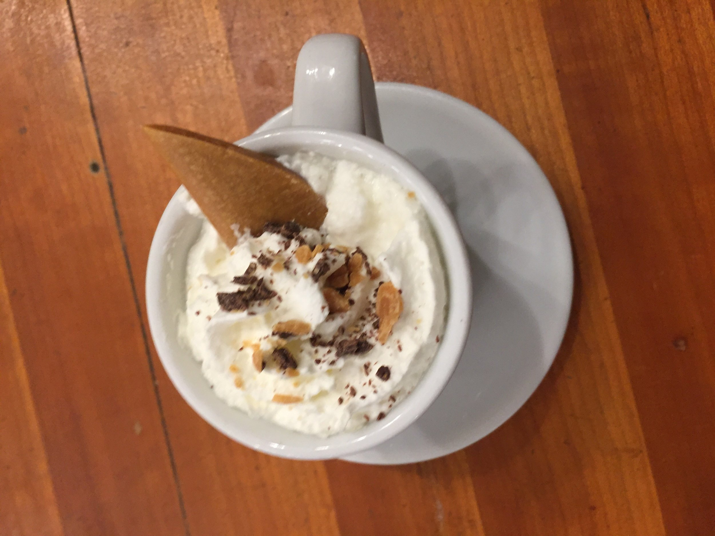 Salted Toffee Hot Chocolate -