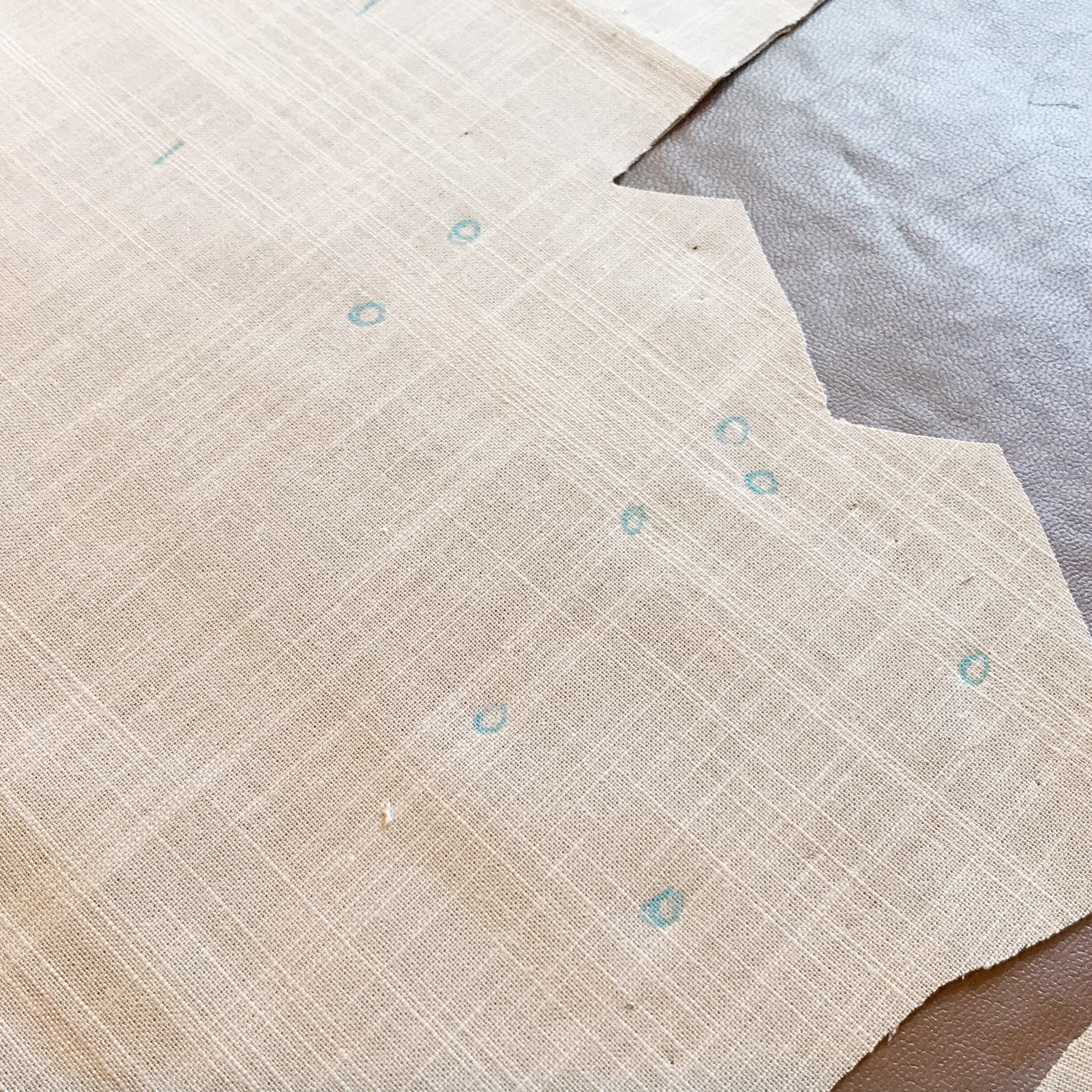 Transferring all those marks - The ones pictured there were for the pleats the top of the bodice