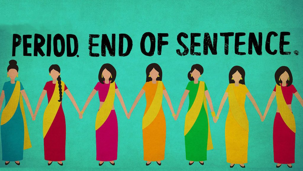 PERIOD. END OF SENTENCE. - Twelve percent of women in India have access to sanitary products for use during their menstrual cycles. TWELVE. PERCENT. This Academy Award®-winning short documentary explores the stigma that is alive and well in India and how it affects women of all ages, including girls that are forced to miss days of school for simply not having knowledge or access to something the rest of us take for granted. Stream it on Netflix.