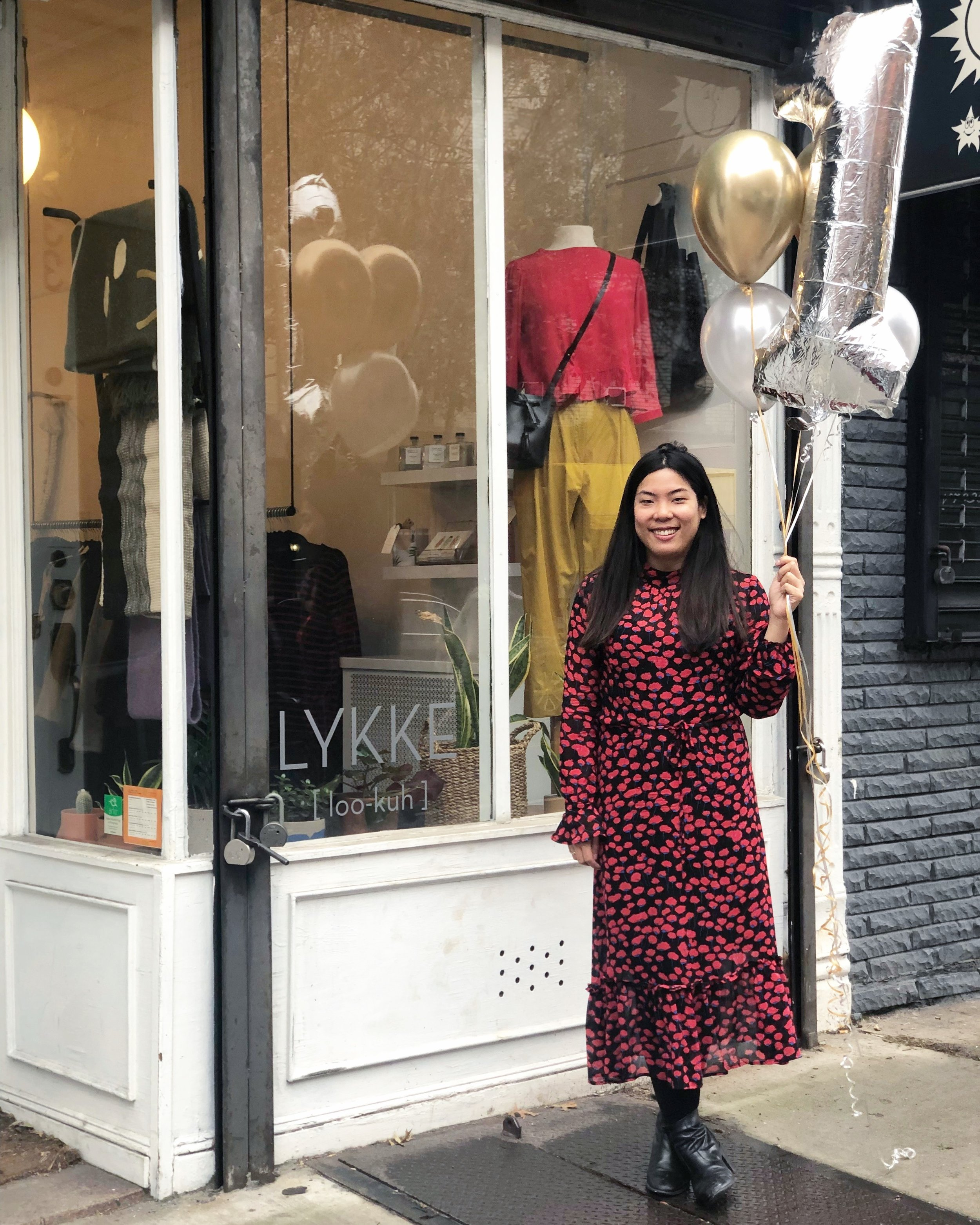 Stephanie Chan, owner and operator of  Lykke , a women's boutique in Park Slope that focuses on independent designers (often women!).
