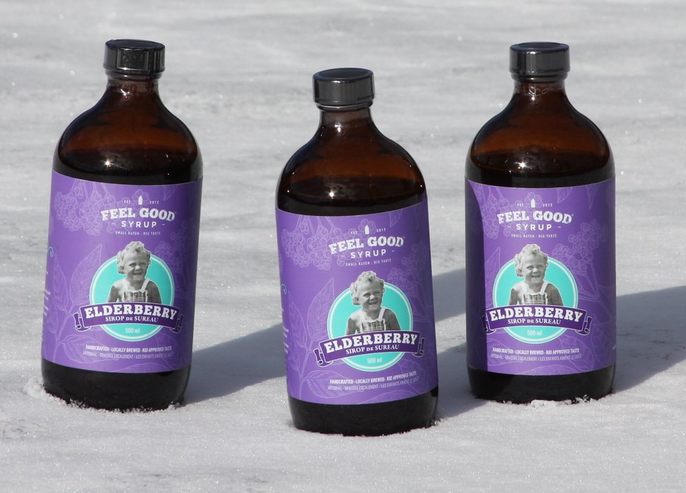 My mission is to offer a delicious, versatile, freshly brewed elderberry syrup using only real ingredients that are loaded with goodness.  – Catalina, founder of Feel Good Syrup.