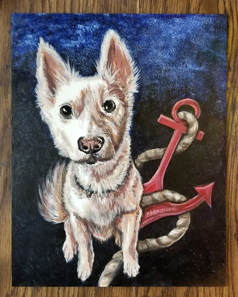 Caine the Navy pooch as a Valentine's Day gift from Her to Him. <3