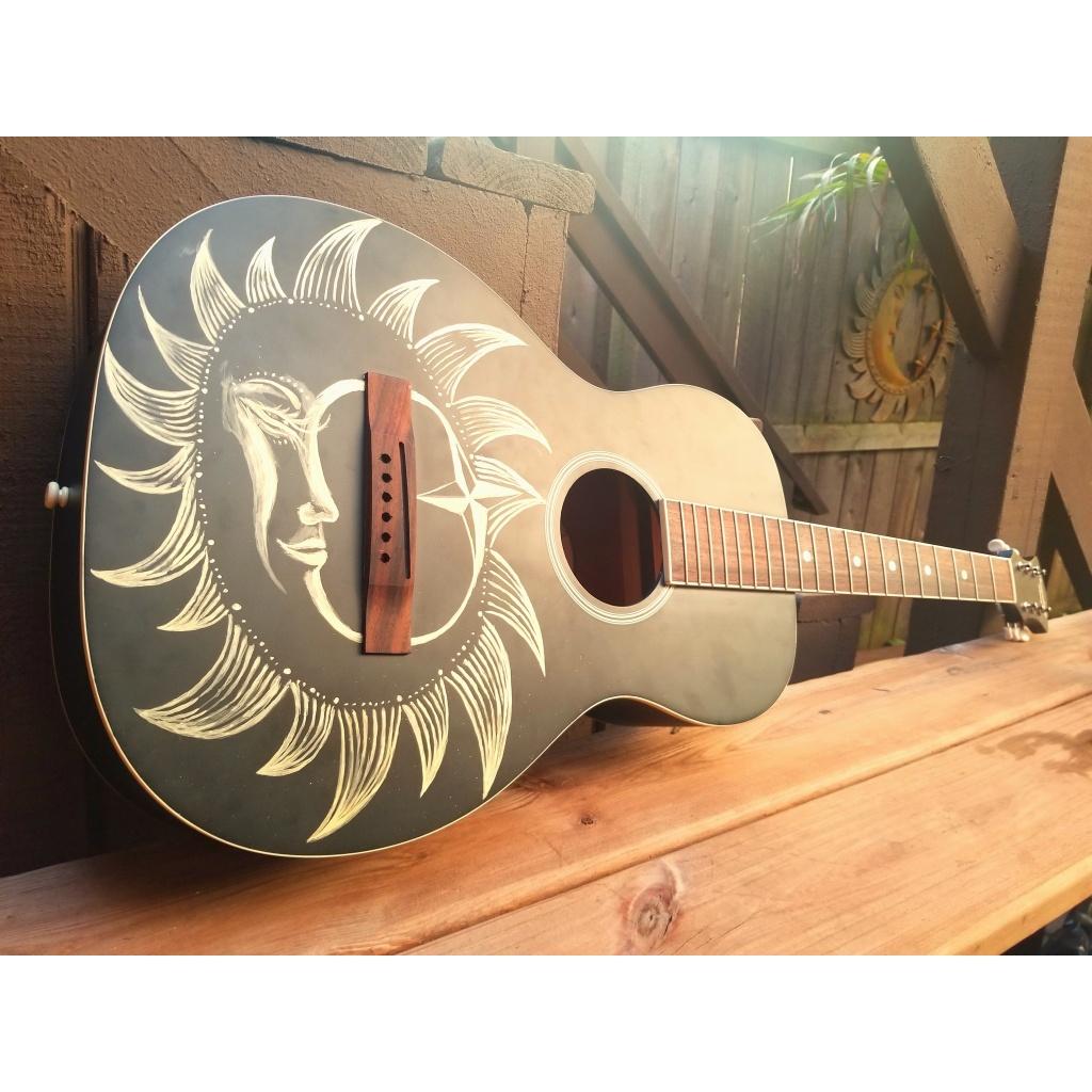 sun & moon guitar for Kenosha Fusion