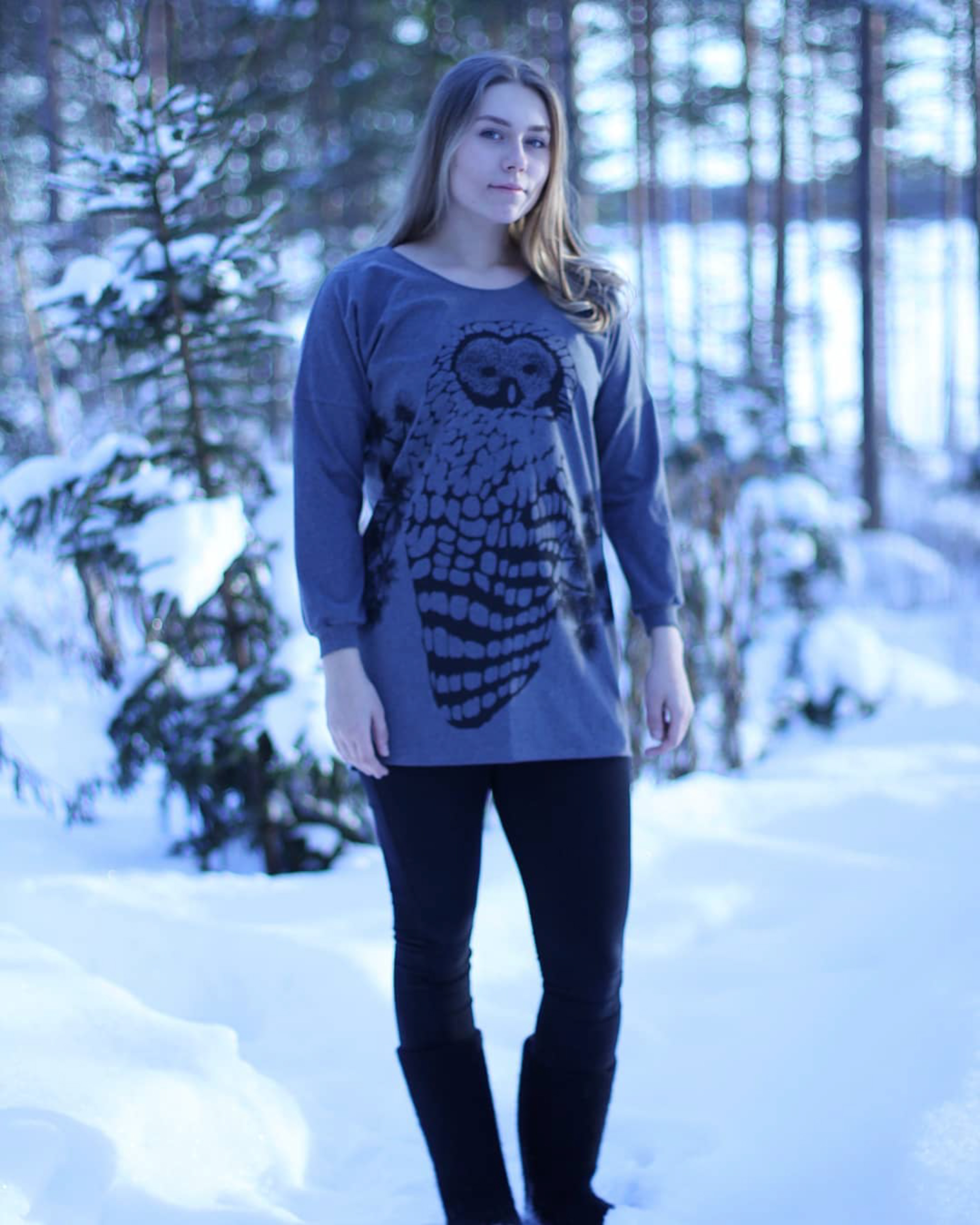 Recycled cotton Owl tunic
