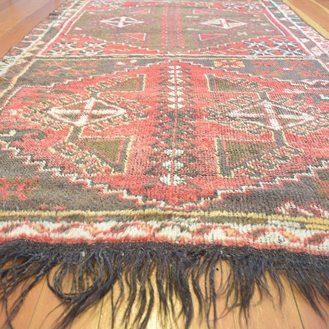 Fringe for days! 4x11ft Rare Antique Turkish Runner rug, just listed! 😍😍😍 rugcollectiveshop.com