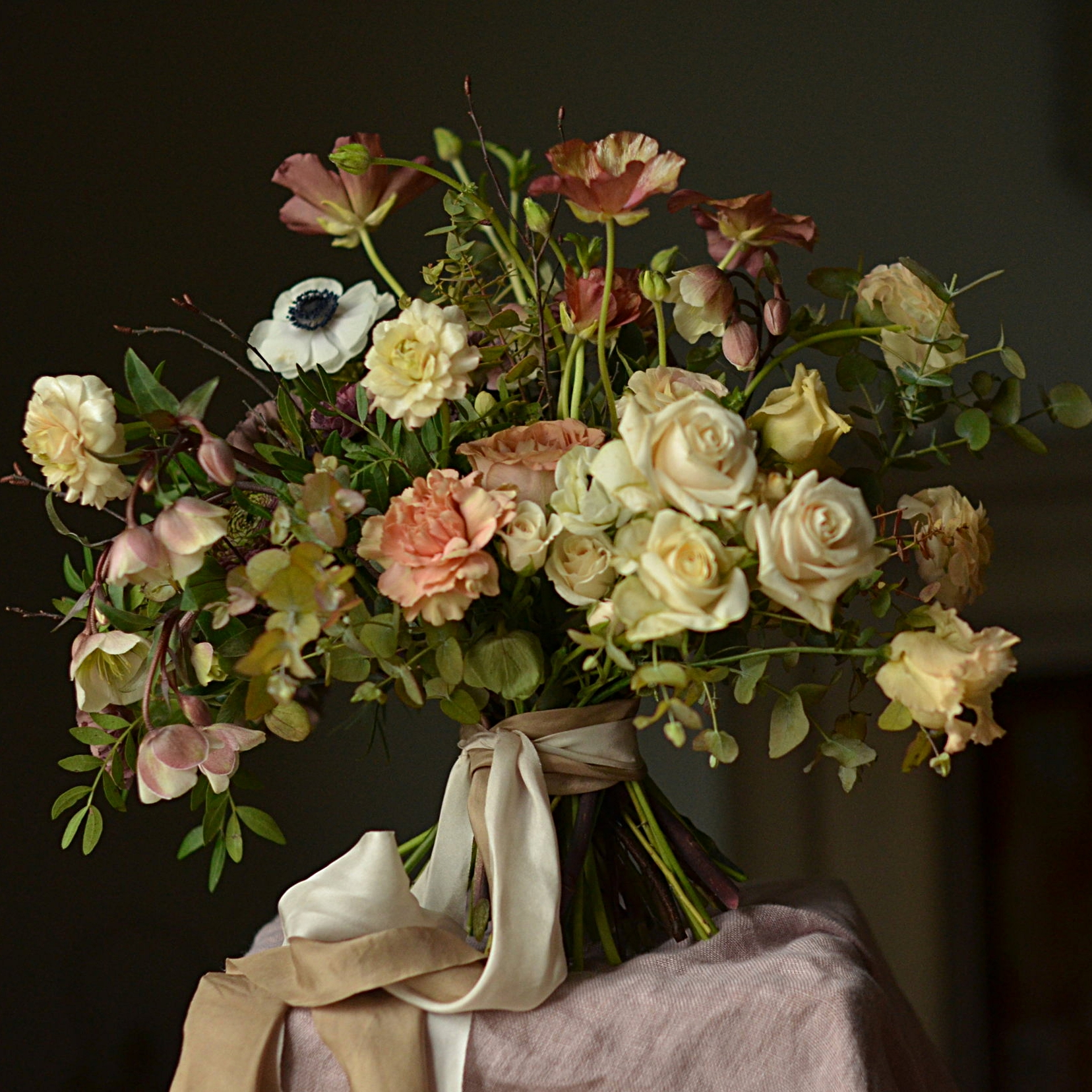 A winters bouquet! Photo courtesy of Sarah Statham of Simply by Arrangement