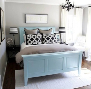 9. Bed - Looking for another different way to get that pop of color in your bedroom? Try a colored bed frame and transform a neutral room to a beautiful bedroom oasis!