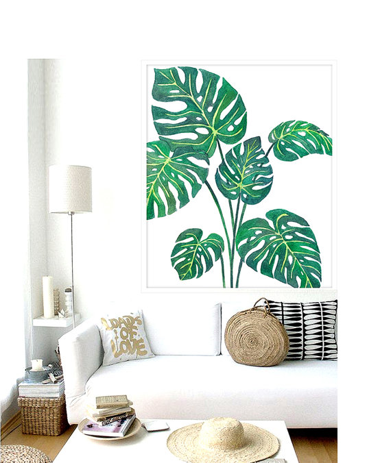 2. Tropical Prints - Every year, there is another new popular print that pops up just about everywhere. Remember when pineapples starting appearing in fashion and decor? Well, this year is all about the TROPICAL print! This tropical look has gained popularity and will continue to be a great trend to add to your decor!