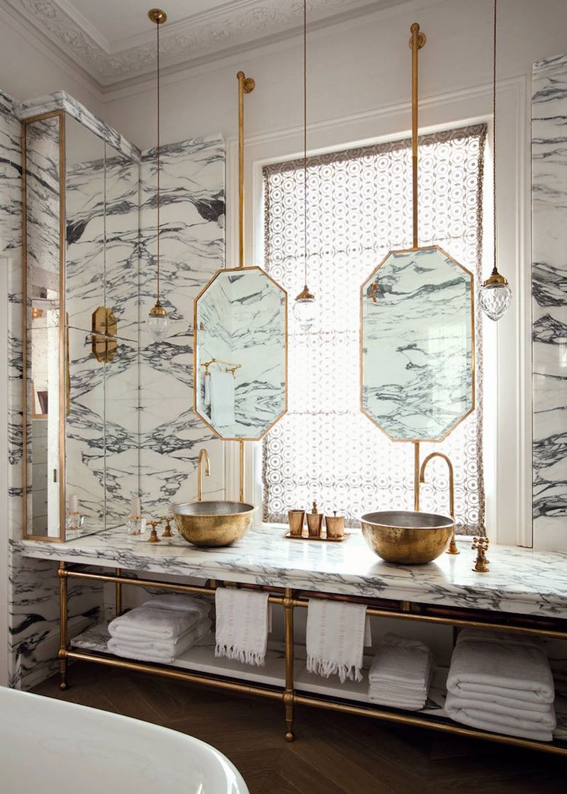 4. Brass Hardware & Fixtures - While on the surface, this trend may feel very 1980s, if done correctly, brass finishes can kick all the (br)ass this summer! We're here to tell you that brass hardware is BACK BABY. Homeowners are opting for brass in light fixtures, chandeliers, and bathroom hardware. As opposed to silver finishing, brass is bolder and brighter, which is perfect for the current aesthetic trends in decor. Add brass in the right places, and it will never go out of style!