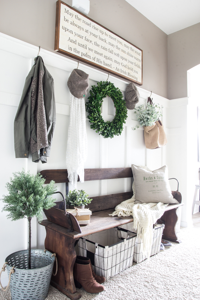 3. Inviting Entryway - Think about the first things guests see in your home. Does your entryway invite someone to stay away or stay awhile? If the answer is stay away, you may want to consider adding a few elements that help to welcome guests into your home.Try a bright, green plant near your entry or incorporate color with a welcome mat or a piece of furniture. Make sure not to overcrowd or clutter the space, as this will have the opposite effect on your guests.