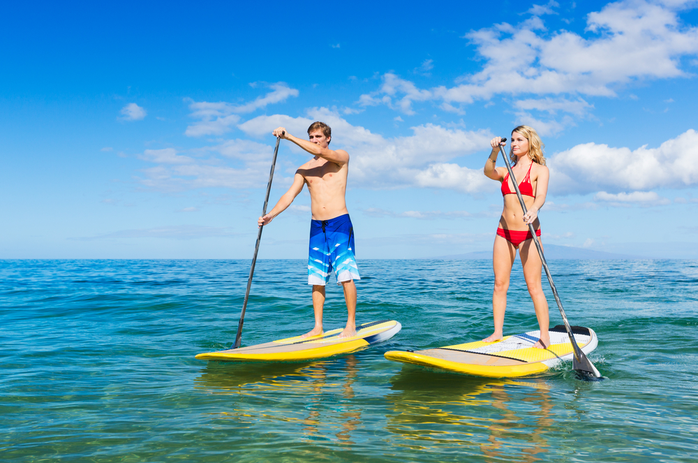 9. Water Sports - If you're the adventurous type, take advantage of what Jupiter has to offer. Go out on the beautiful waters of Jupiter on kayaks, jet skis, or paddle boards for a fun-filled afternoon with your S.O. After you've worked up an appetite, head to one of Jupiter's after-beach favorites, Dune Dog Cafe!