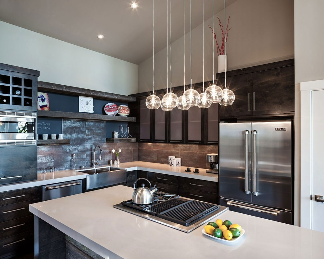 3. Change lighting - This comes hand-in-hand with new hardware. When you upgrade your outdated kitchen hardware to something more modern and trendy, pick up some new light fixtures to match!Light fixtures are PERFECT for altering your kitchen atmosphere!