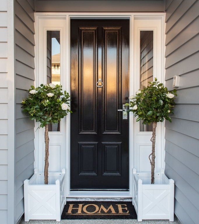 1. Up your entrance - The first thing anyone will notice about your home is your entrance. So make it grand!Repaint your door with a rich, bold color to make your home stand out. Then add a welcome mat, plants, or a wreath. Impress your guests from the first sight!Another easy project is to make a stunning entryway. Once your guests enter your home, they should feel comfortable, but the entryway should also be functional.Add storage and hooks near your front door so you can get rid of the mess of jackets, umbrellas, and shoes at the entrance of your home.