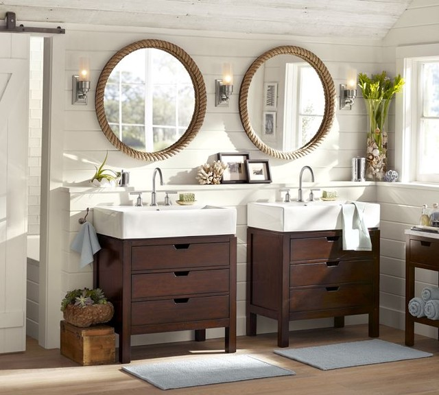 3. Install a new faucet or sink - Do you have an old faucet or sink in your kitchen or bathroom? Consider updating it!The easiest way to do this would be just to upgrade your faucet. Simple and inexpensive, and it can make a big difference!If you don't mind spending the money, you may want to look for a new sink. Installing a vanity or sink can help you achieve the look you're going for and solve any storage problems you may have.