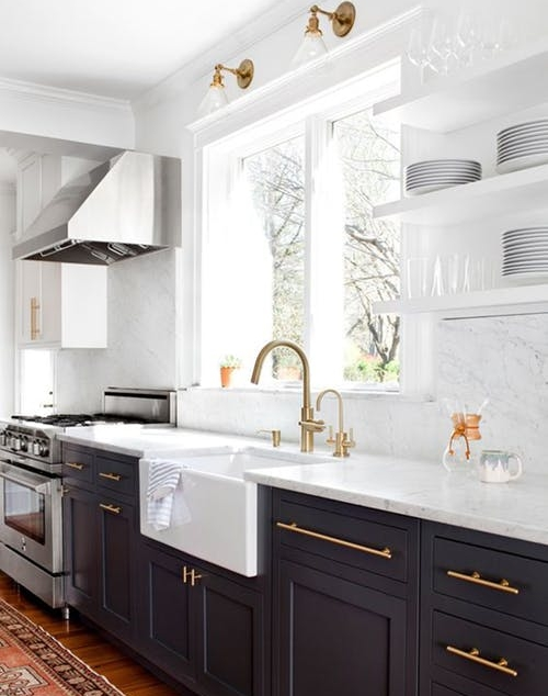 5. Replace your hardware - Replacing the hardware in your kitchen or bathrooms is the PERFECT way to subtly upgrade your decor to the next level.Brass and gold accents are on trend right now, but chrome and silver are still in the game!If you have a modern or contemporary kitchen, opt for a sleek, elongated pull for clean lines. If you have an antique look or intricately designed cabinetry, opt for knobs or unique choices.
