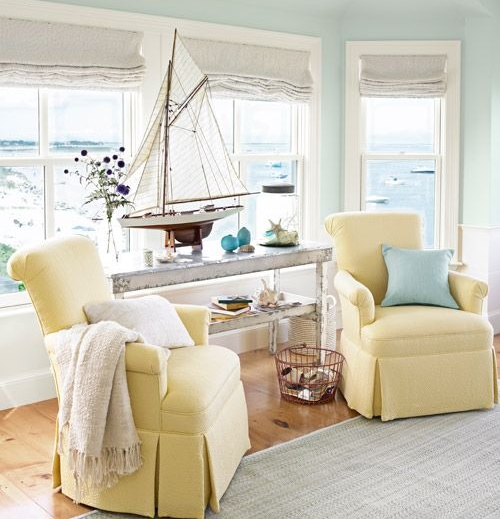 2. Boats - Boats, boats, boats! Boat models are PERFECT for achieving that beach house decor that you've been dreaming of. Pretty soon you'll have that pinterest perfect coastal home that will impress everyone that walks in the door!Try the look that's pictured by adding a large, eye-catching model boat in your living room to add that wow factor.You can find decorative boats online on amazon or at one of our favorite home decor stores, HomeGoods! Pair a smaller boat model with a lighthouse decoration or beachy art piece!