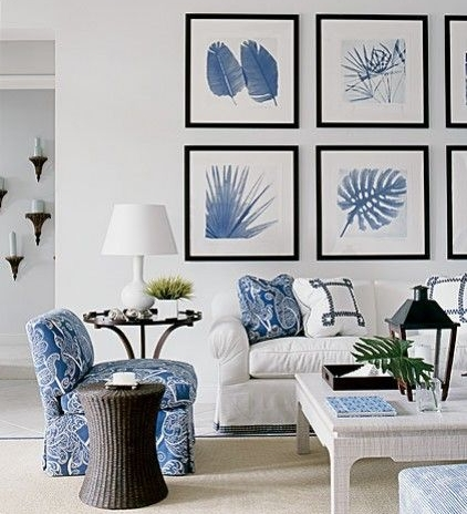3. Everything Blue and White - The blue and white color combo screams beach life! Keeping your decor light, bright and white, with blue accents will exude that nautical atmosphere you've been searching for!Make it a theme and coming home to your house will feel like an extension of a relaxing day at the beach!