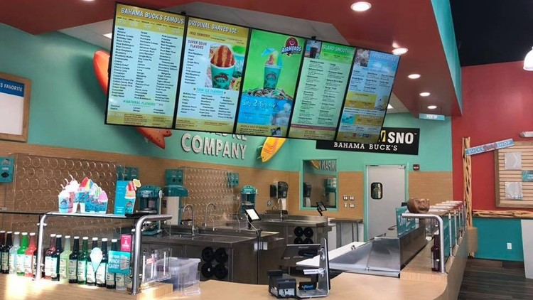 - Bahama Buck's is an island inspired, comfortable, and uplifting destination where people can create their perfect all-day dessert, relax, and connect with friends.Stop by to get a delicious ice or smoothie! This is a treat the whole family will love!