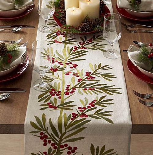 4. Table Runners - Bring in a pop of color or a festive print with a table runner! There are so many options to choose from!