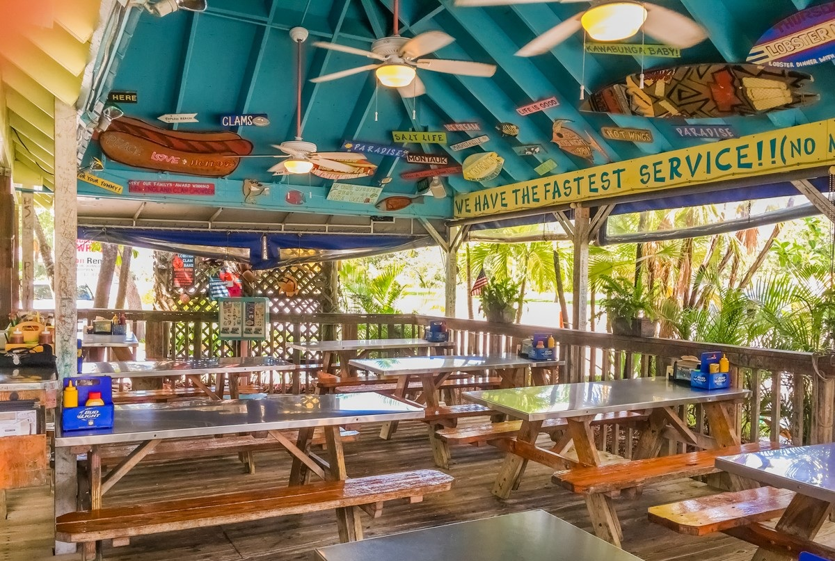 8. Dune Dog Cafe - Inspired by Key West, this hub offers hot dogs, sandwiches & salads in a family-friendly space.Our faves: Naked Dog, Crunchy Fish Sandwich, Fish & ChipsPrice: $$
