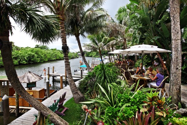 9. Guanabanas - Island-themed seafood specialist features a tiki bar, live music & Intracoastal Waterway view.Our faves: Antigua, BBQ Pulled Pork Sandwich, Corn PuddingPrice: $$