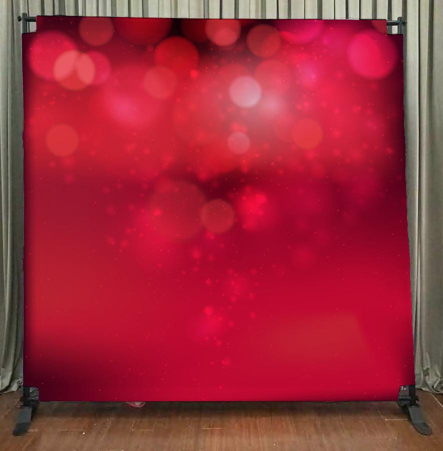 Princeton Photo Booth Red Bokeh Backdrop