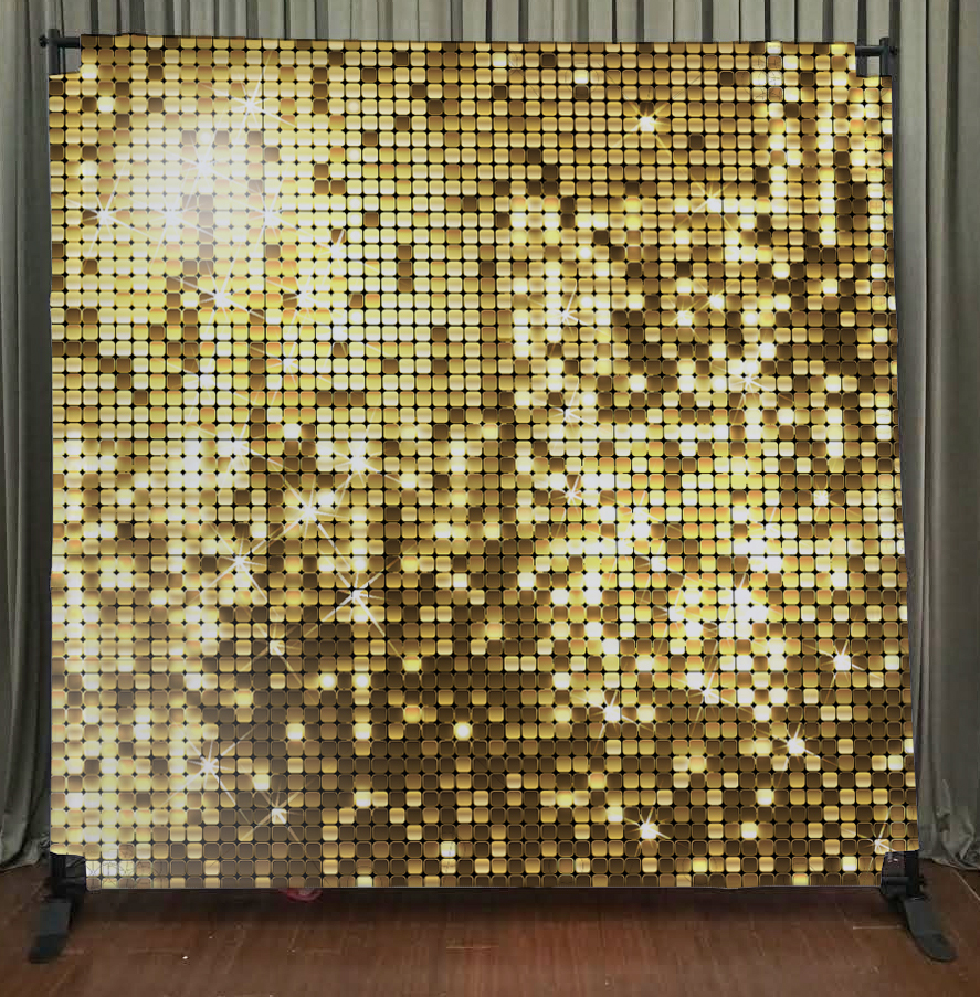 Princeton Photo Booth Gold Sequin Backdrop