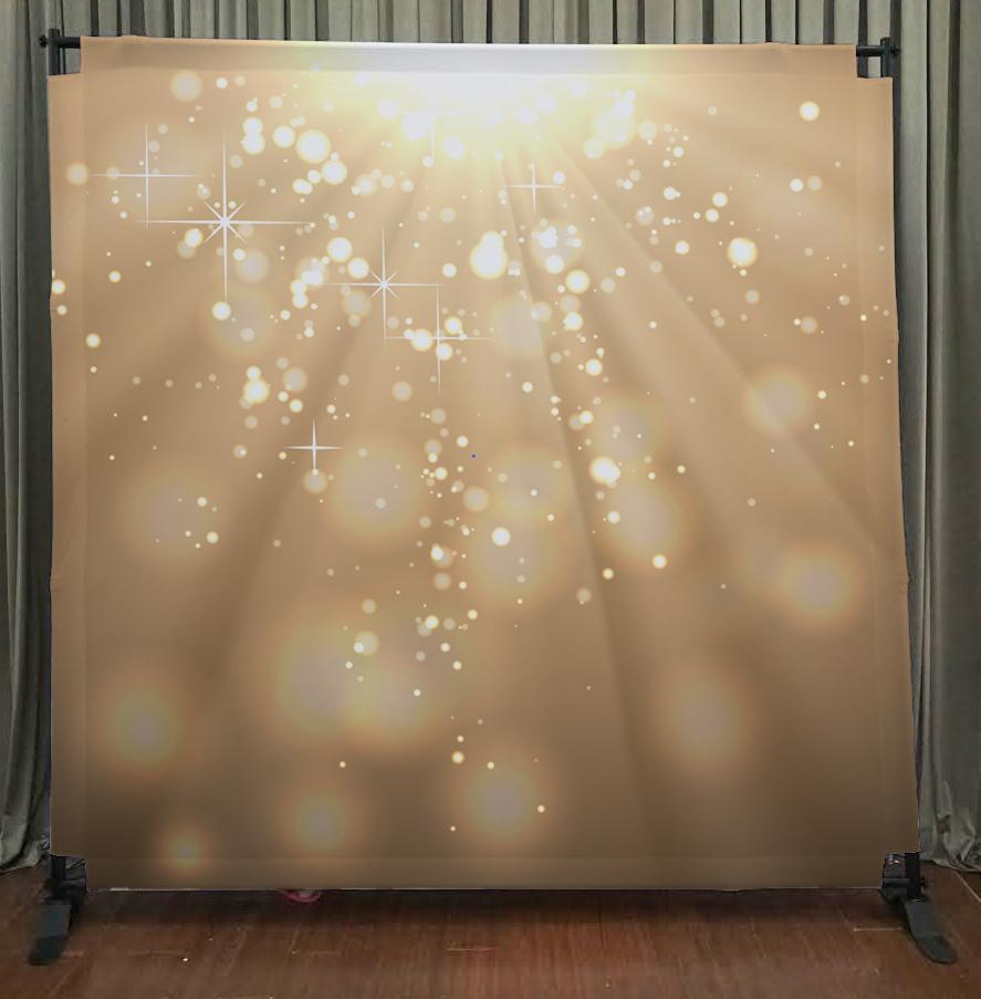 Princeton Photo Booth Gold Bokeh Backdrop