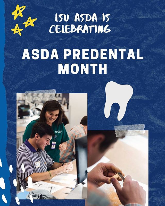 October is ASDA Pre-Dental Month! • Get ready for insta takeovers from members of each grade level and plenty other posts to help our pre-dental colleagues learn what dental school at LSUSD is all about! #ASDApredental #predentalmonth