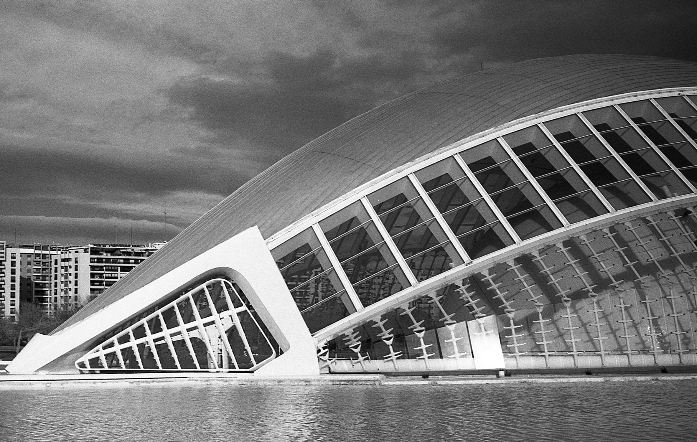 City of Arts and Sciences, L'Hemisfèric, Valencia, Nikon F3, Rollei Retro 400S