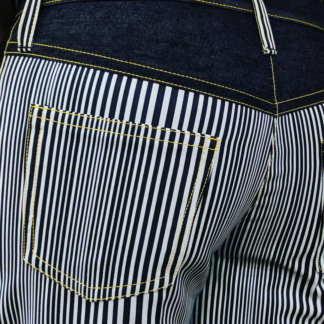 Black & White Striped Jeans