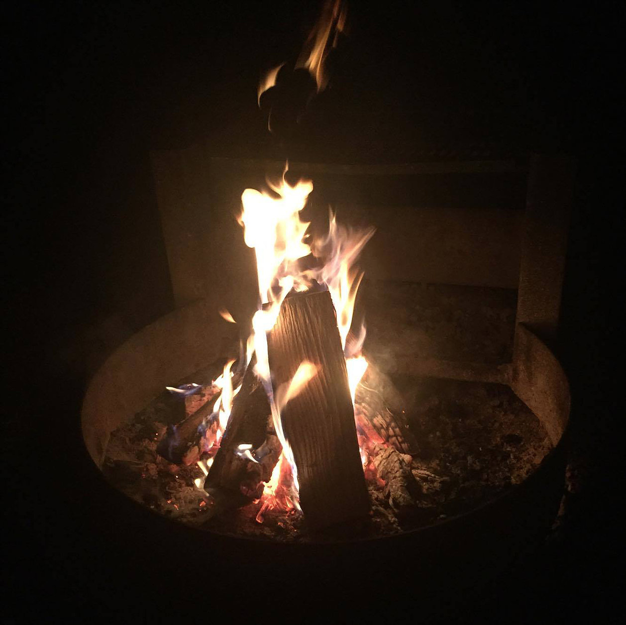 Image by Rachel Leah Gerson. NOTE: This photograph has not been filtered, engineered, or edited in any way. You can clearly see creatures dancing in the fire! More pictures on Instagram @doorwaytoself    *This is part 2 of 3. Click  here  to read part 1.