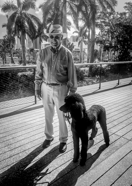 Neil and his standard poodle, Price