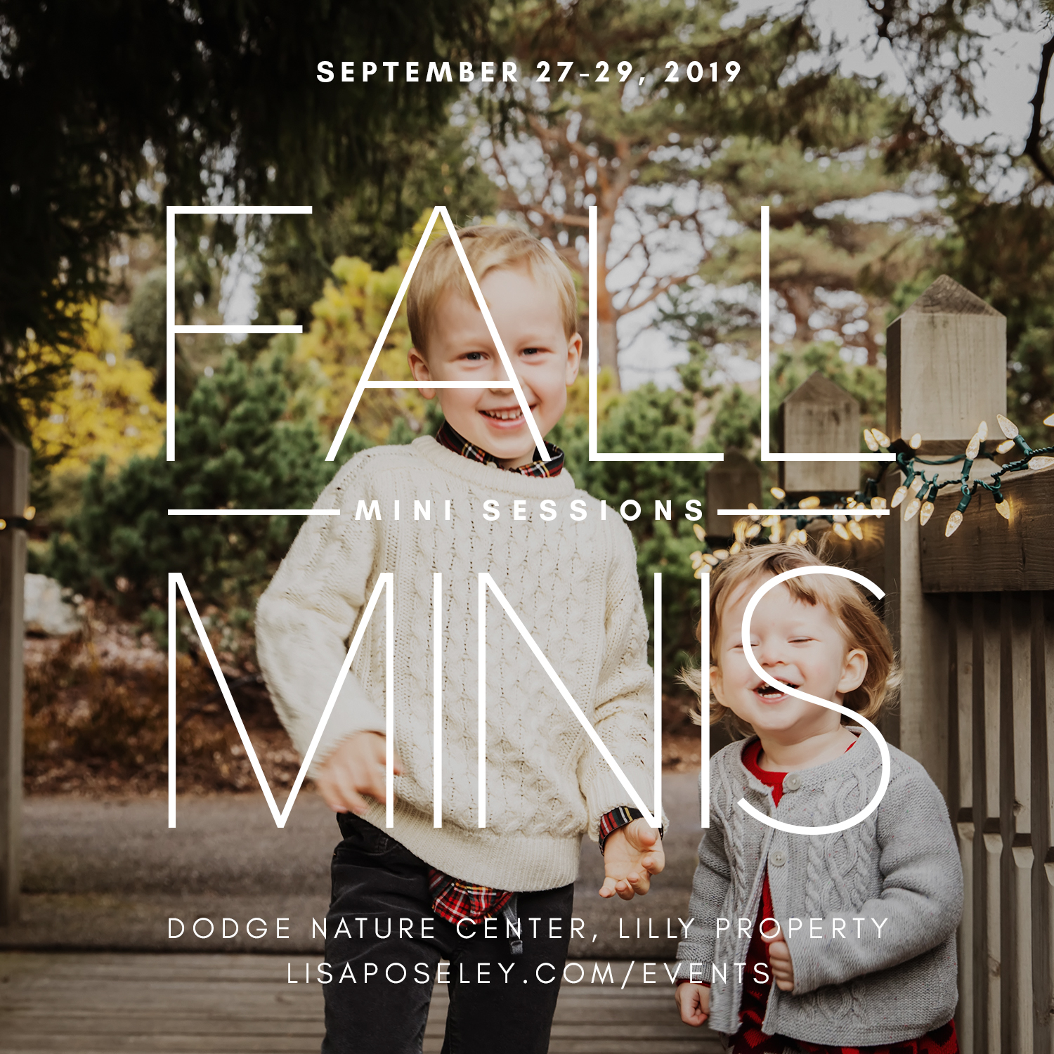 Fall family photography mini sessions