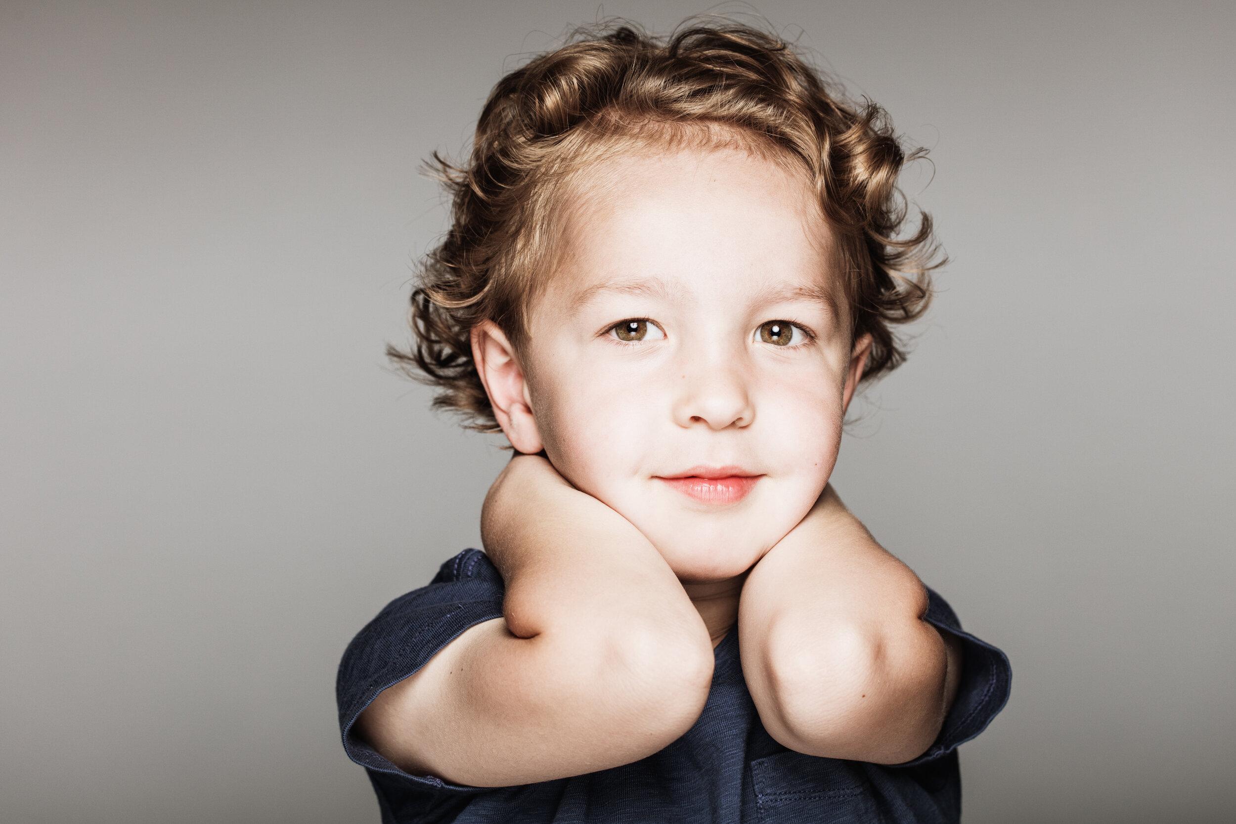 Child photo studio portrait